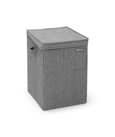 Tvättkorg Stapelbar Peppar Svart 35 L