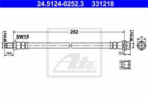 Jarruletku, Taka-akseli, FORD TRANSIT Buss, TRANSIT Flak/chassi, TRANSIT Skåp, TRANSIT TOURNEO Buss, 1371521, 1438806, 6C11-2282-EA, 6C1