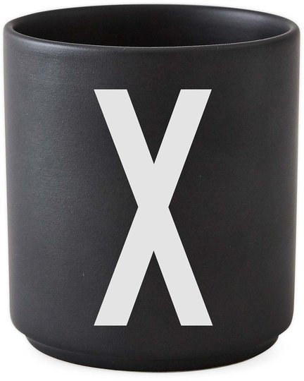DL Kopp Porselen X, Svart