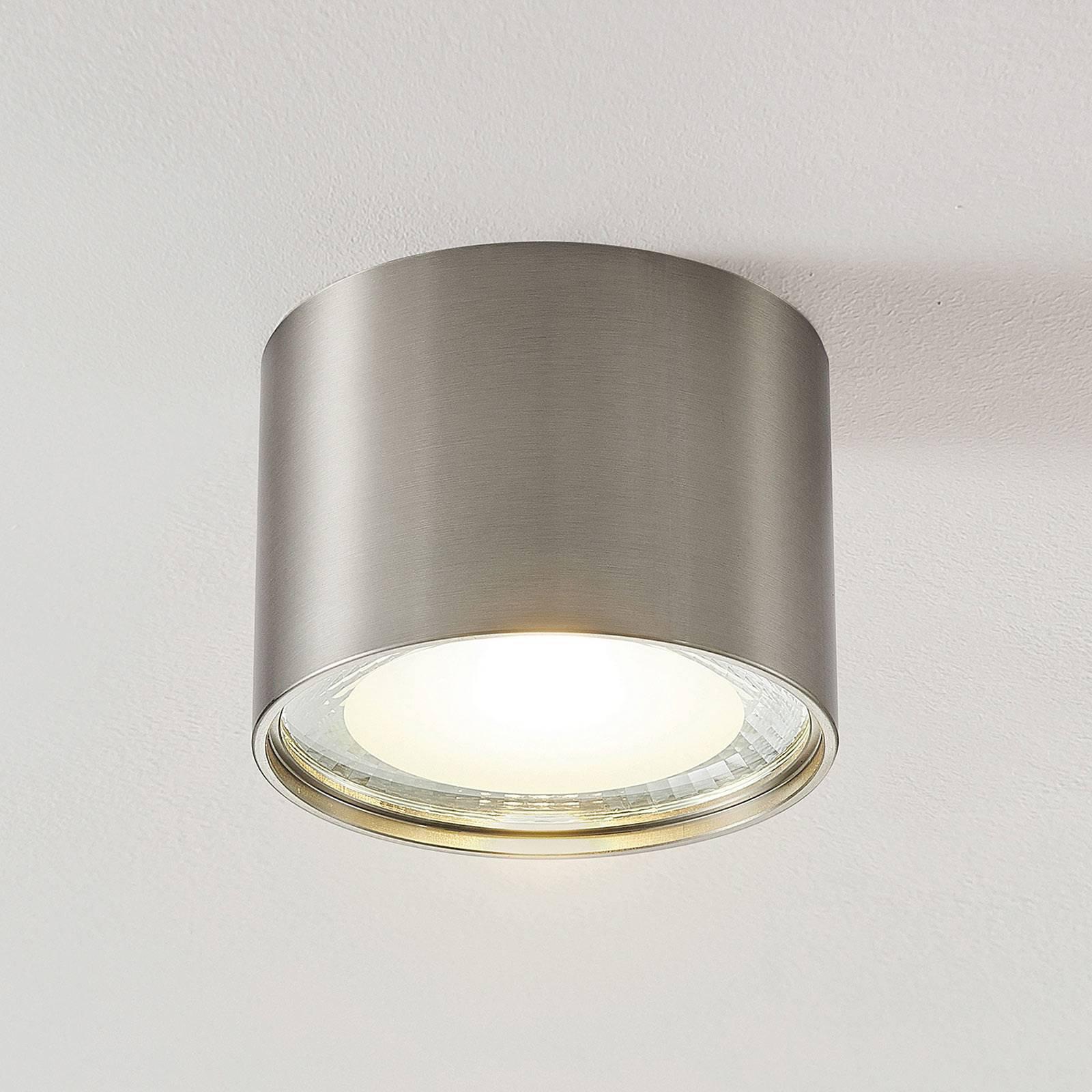 LED-downlight Meera, rund, satinert nikkel