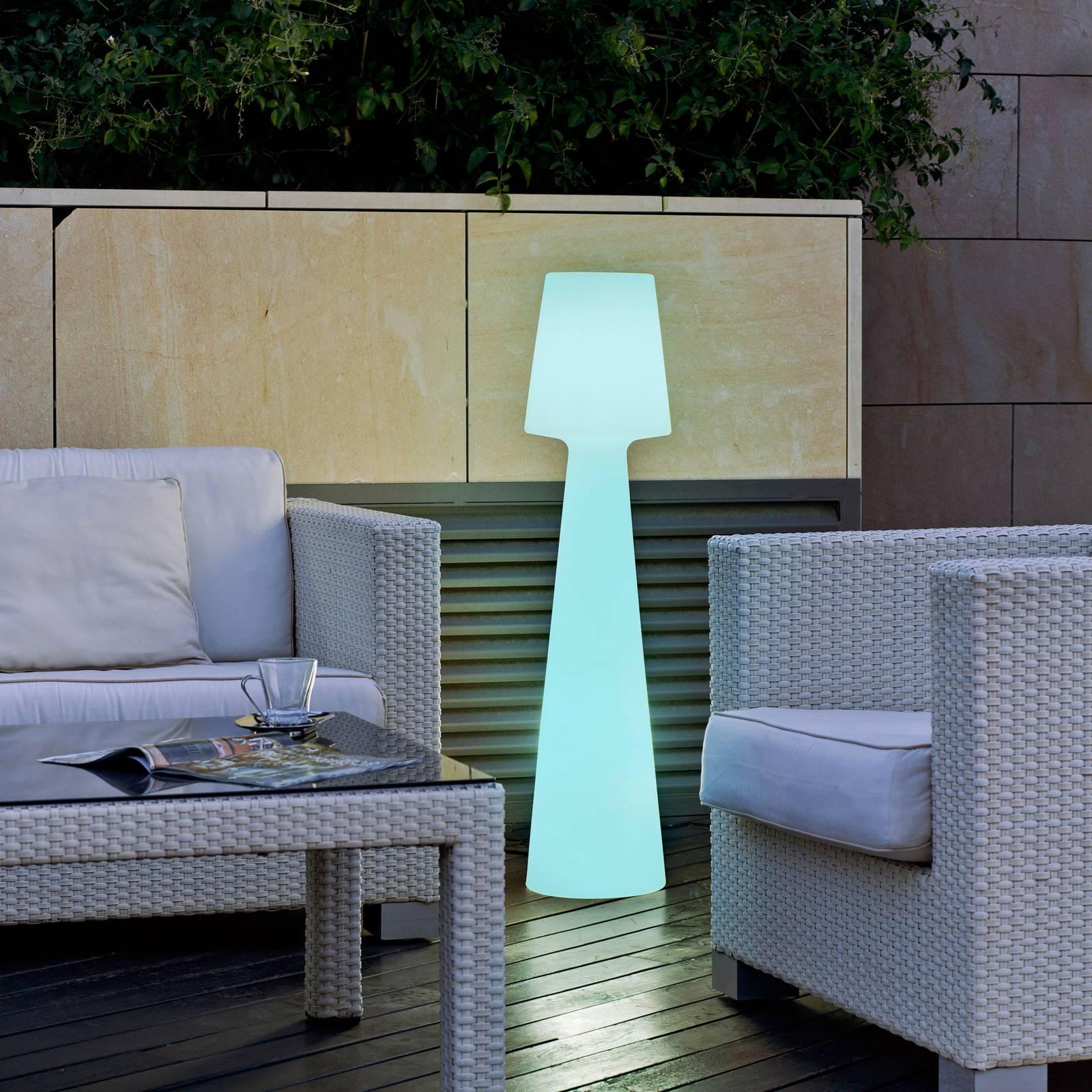 Newgarden Lola-LED-lattiavalo, akku, korkeus 110cm