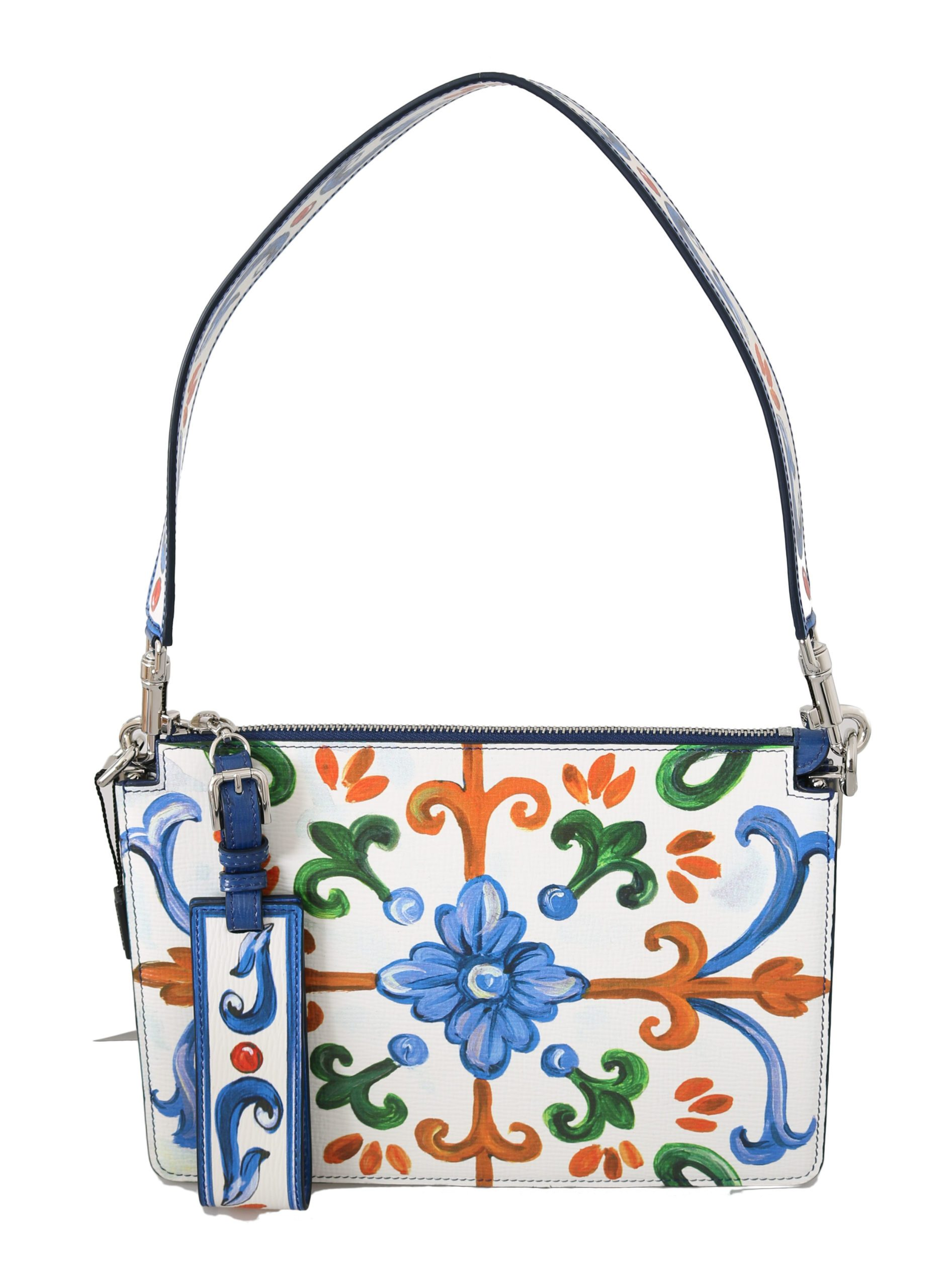 Dolce & Gabbana Women's Majolica Book Leather Shoulder Bag White VAS8766