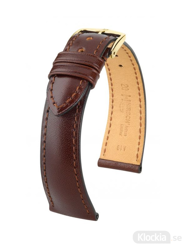 Hirsch Siena, Artisan Leather 16mm Medium Brun/Guld 04202110-1-16