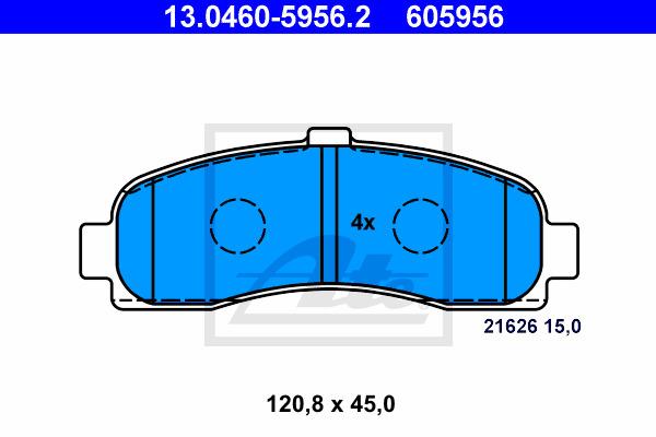 Jarrupalasarja, levyjarru ATE 13.0460-5956.2
