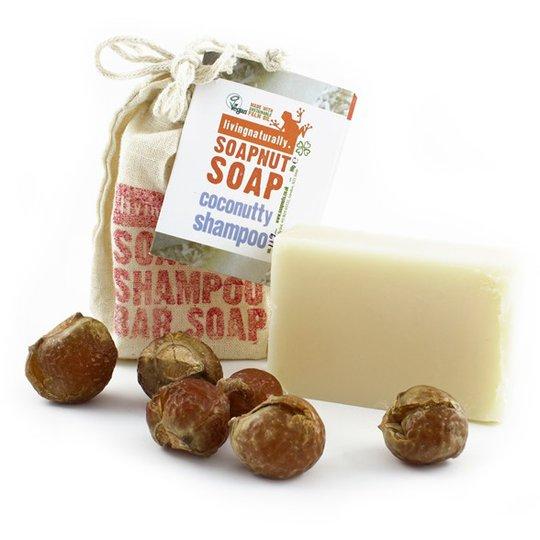 Living Naturally Coconutty Soapnut Shampoo Bar, 90 g