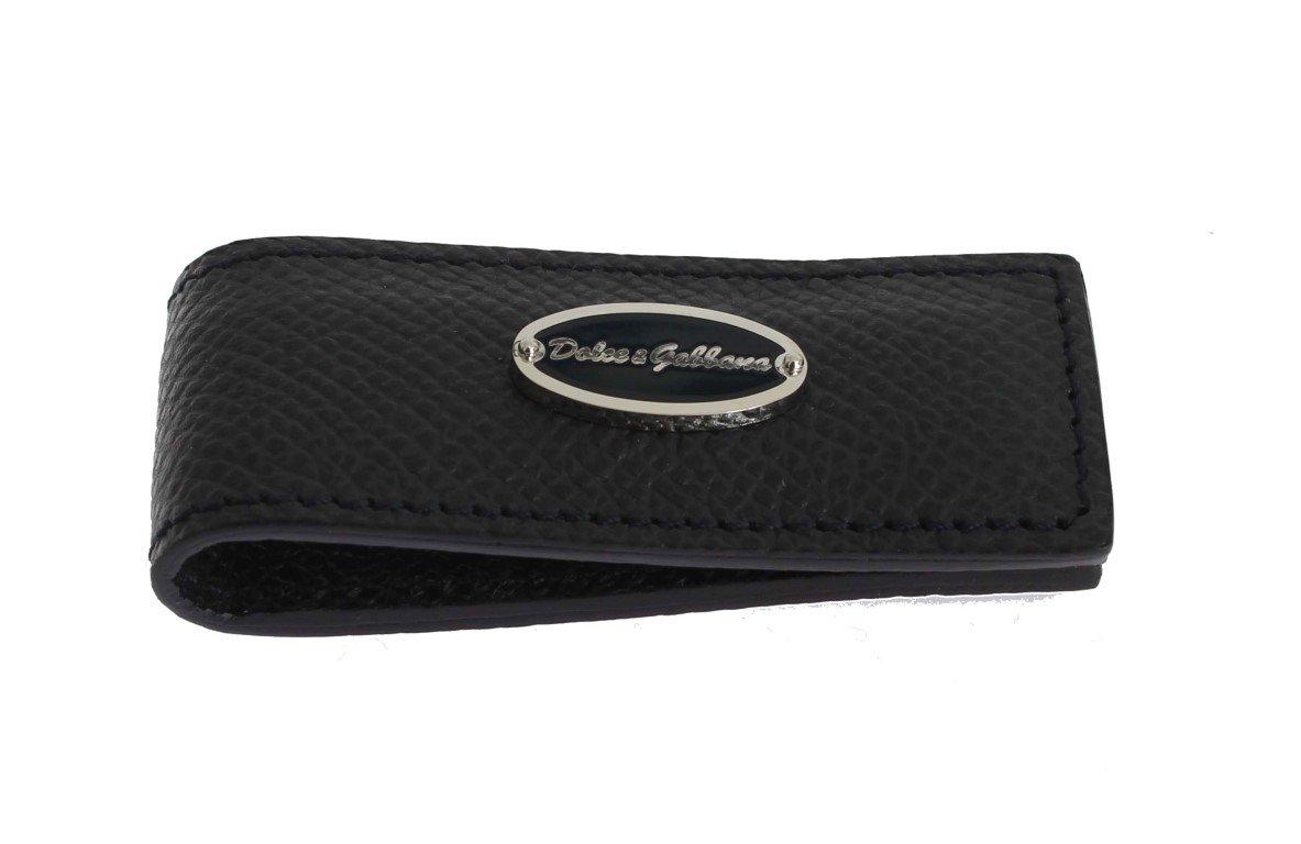 Dolce & Gabbana Men's Leather Magnet Money Clip Blue SIG31664