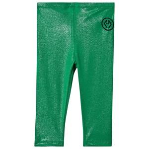 The Animals Observatory Bright Alligator Leggings Green Logo 2 år
