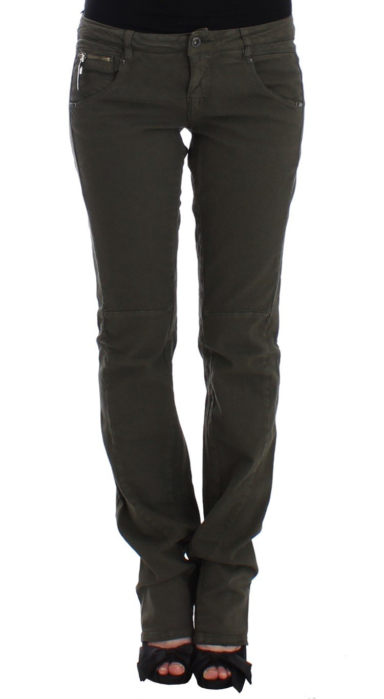 Costume National Women's Slim Leg Jeans Green SIG12556 - W29