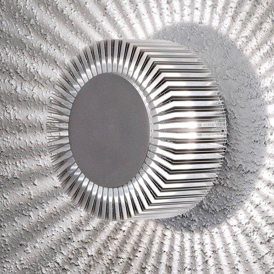 Vegghengt utelampe Monza m. LED, aluminium, IP54