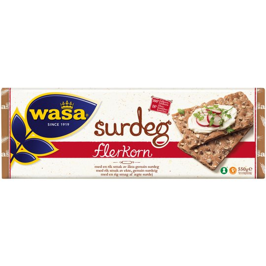 """Knäckebröd """"Surdeg Flerkorn"""" 550g - 44% rabatt"""