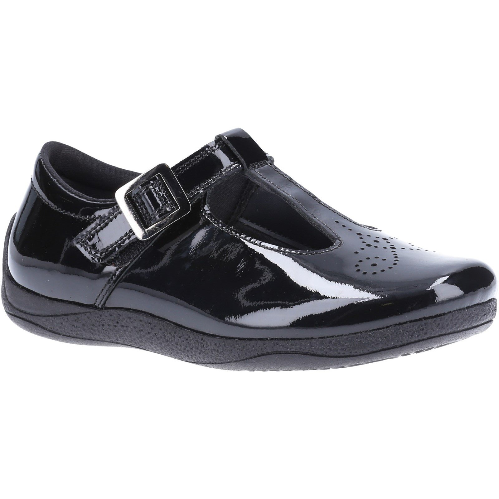 Hush Puppies Kid's Eliza Senior School Shoe Patent Black 32592 - Patent Black 6