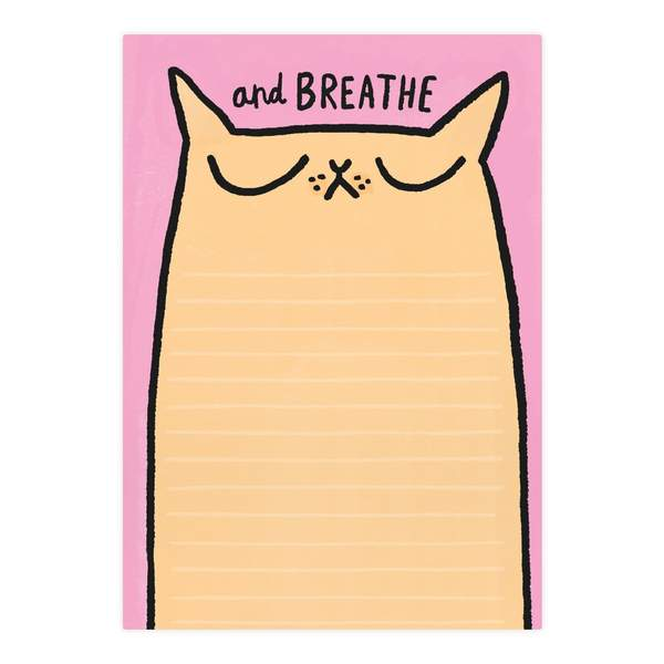 Breathe Cat A5 Notepad
