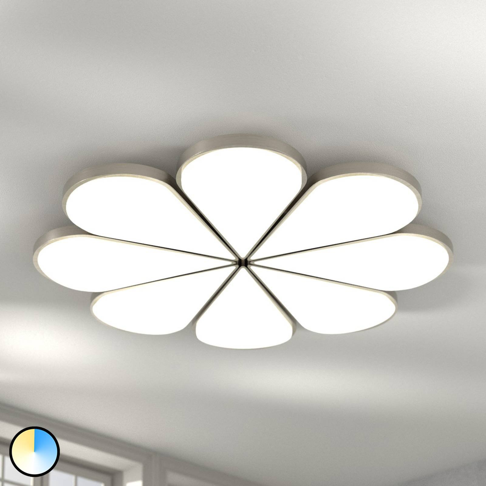 B-Leuchten Flower LED-taklampe CCT Ø 81cm