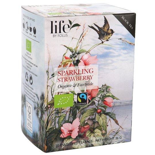 Eko Sparkling Strawberry Svart Te - 51% rabatt