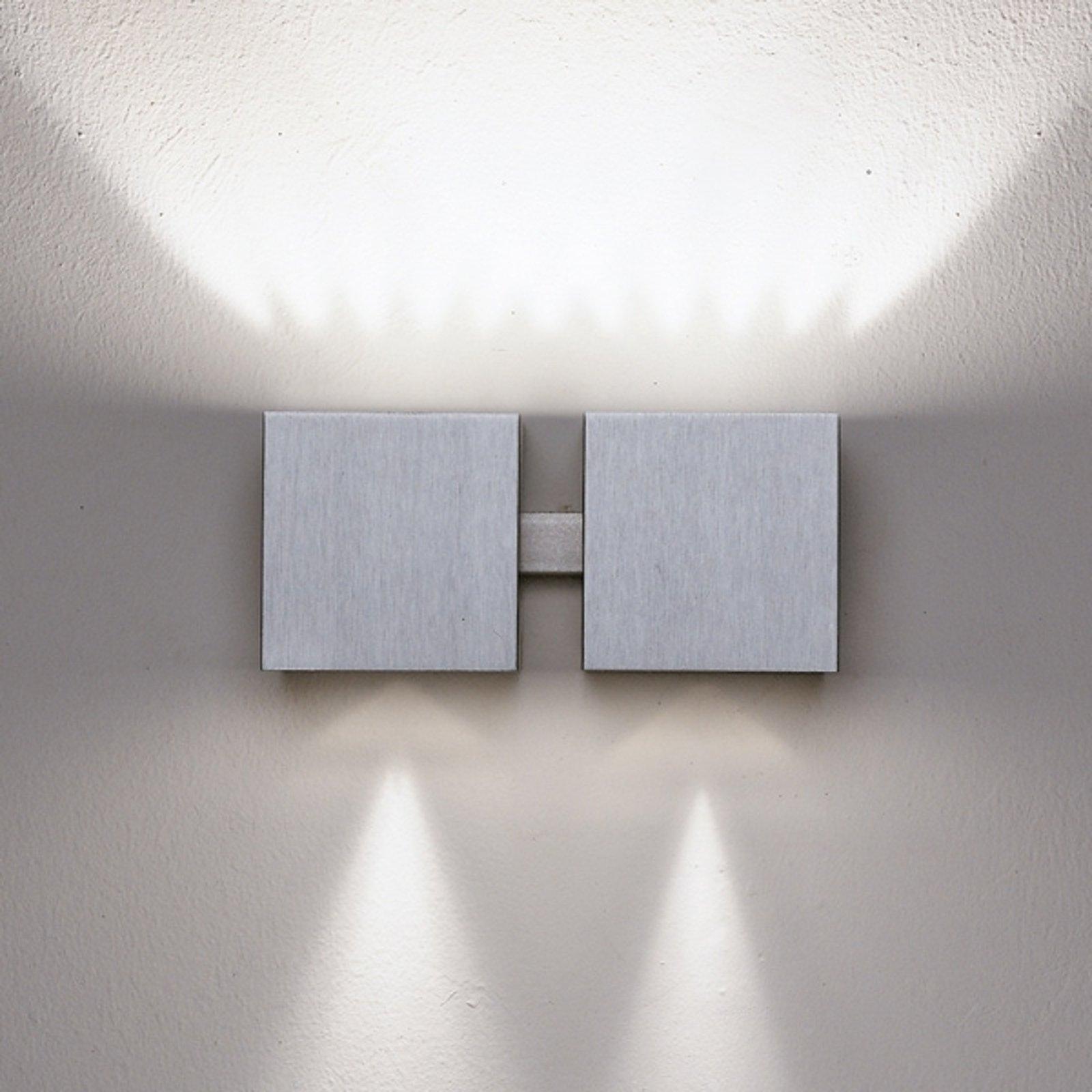 Vegglampe Dau up-og downlight aluminium 2 lys