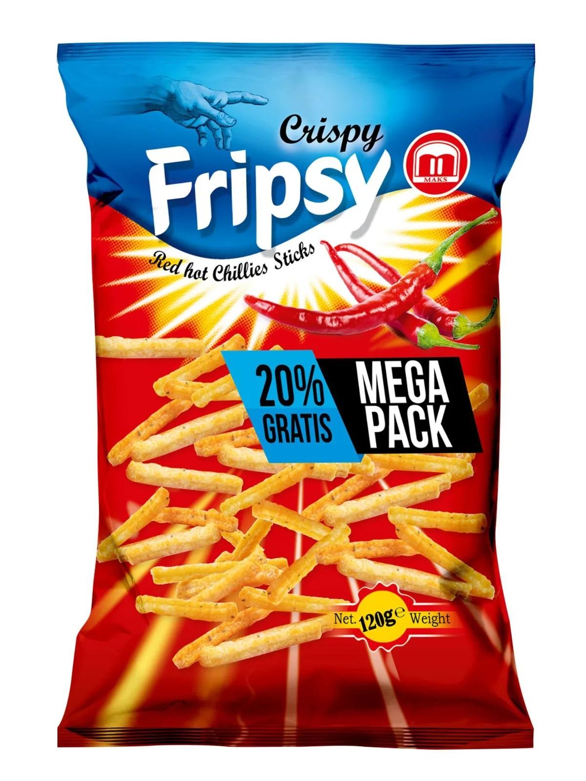 Crispy Fripsy Red Hot Chilli 120g