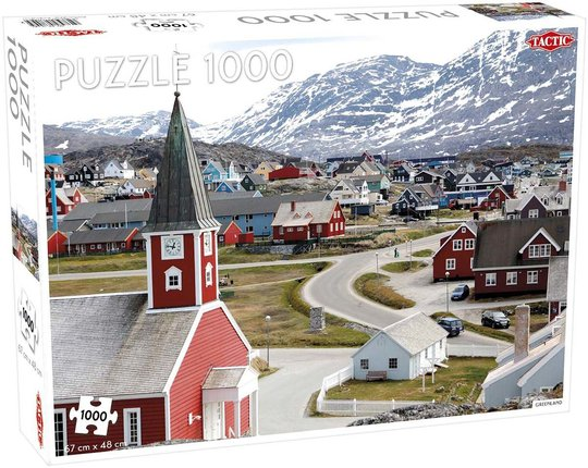 Tactic Puslespill Greenland 1000 brikker