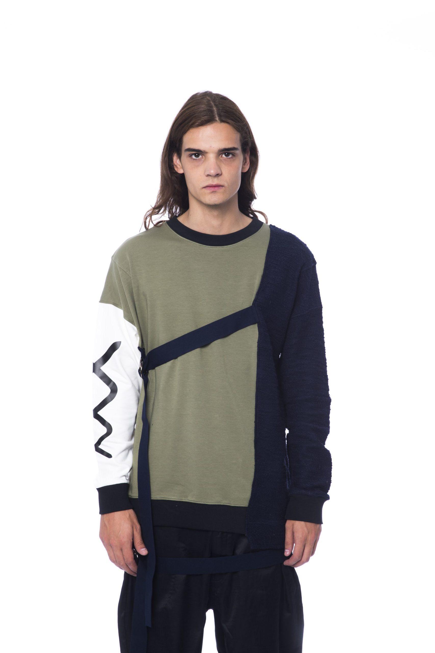 Nicolo Tonetto Men's Army Sweater Blue NI1273162 - L
