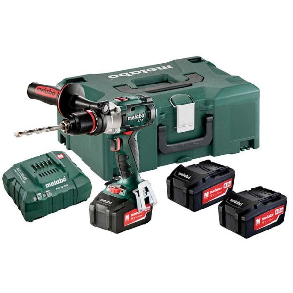 Metabo SB 18 LTX Impuls Set Slagbormaskin med 4,0Ah-batterier og lader