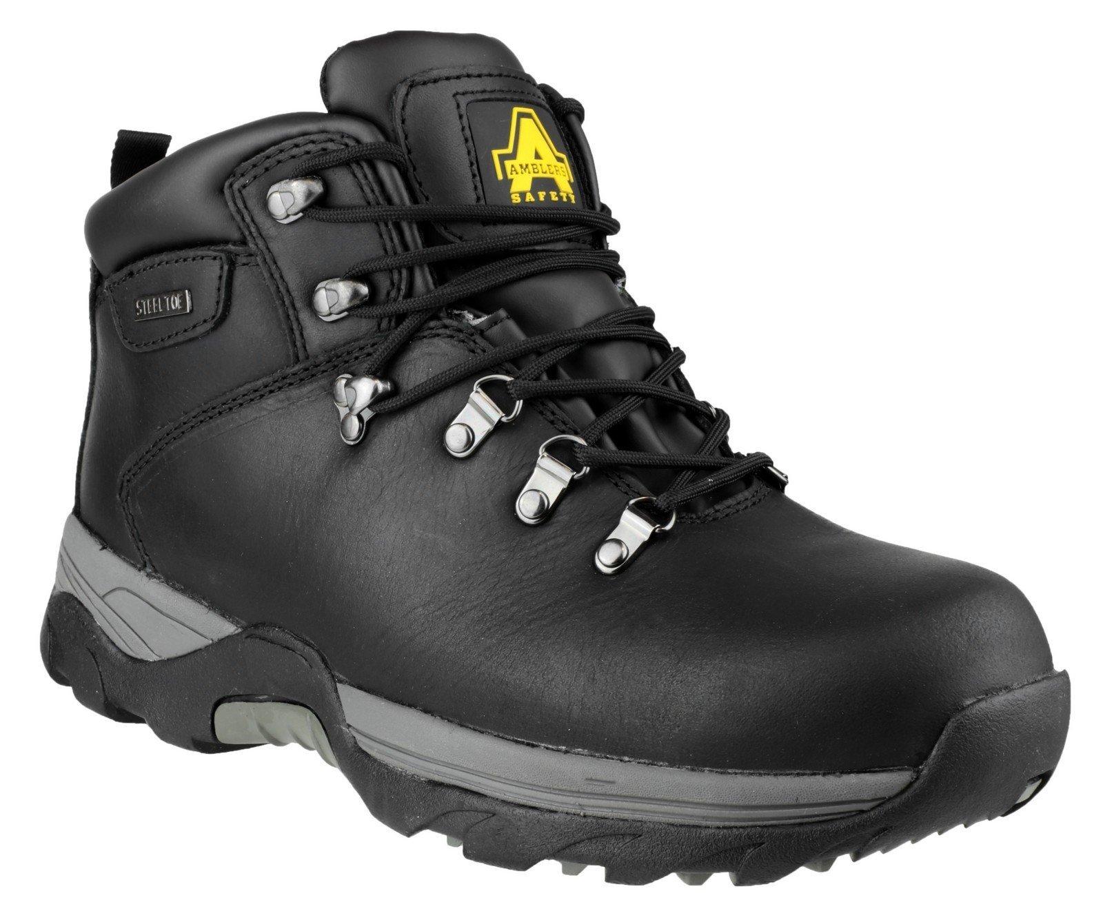 Amblers Unisex Safety Waterproof Lace up Hiker Boot Black 14103 - Black 6