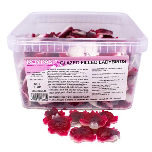 Glazed Filled Ladybirds (HALAL) - 2 kg