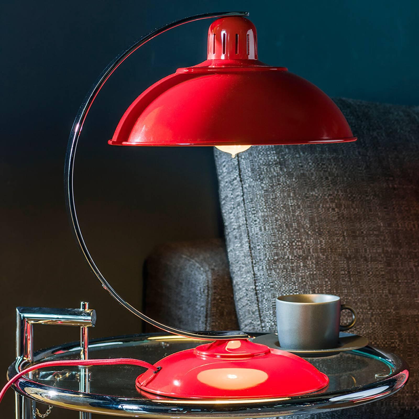 I friskt rødt - bordlampe Franklin