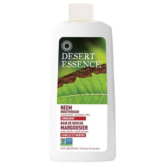 Desert Essence Neem Mouthwash - Cinnamint, 473 ml