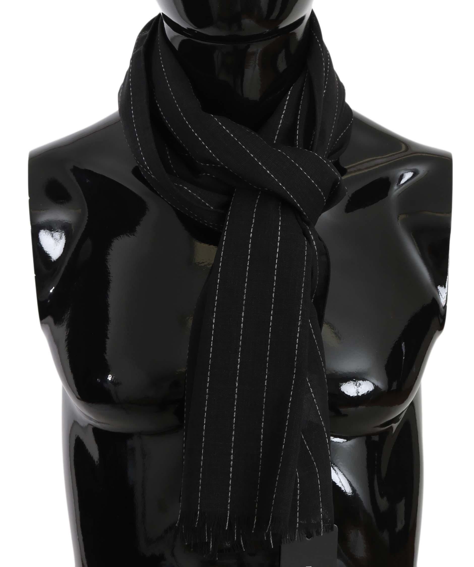 Dolce & Gabbana Men's Scarf Black MS5182