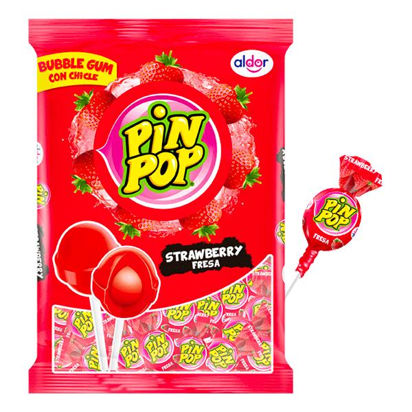 Pin Pop Klubbor Jordgubb Storpack - 59-pack
