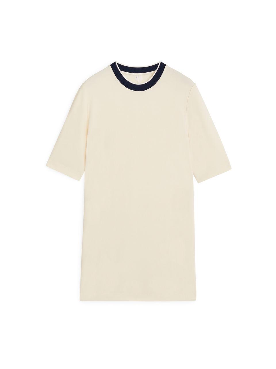 Viscose T-shirt - Beige