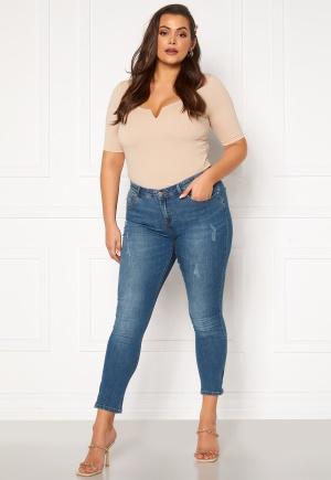 Only Carmakoma Karla Reg Ank Sk Jeans Medium Blue Denim 54