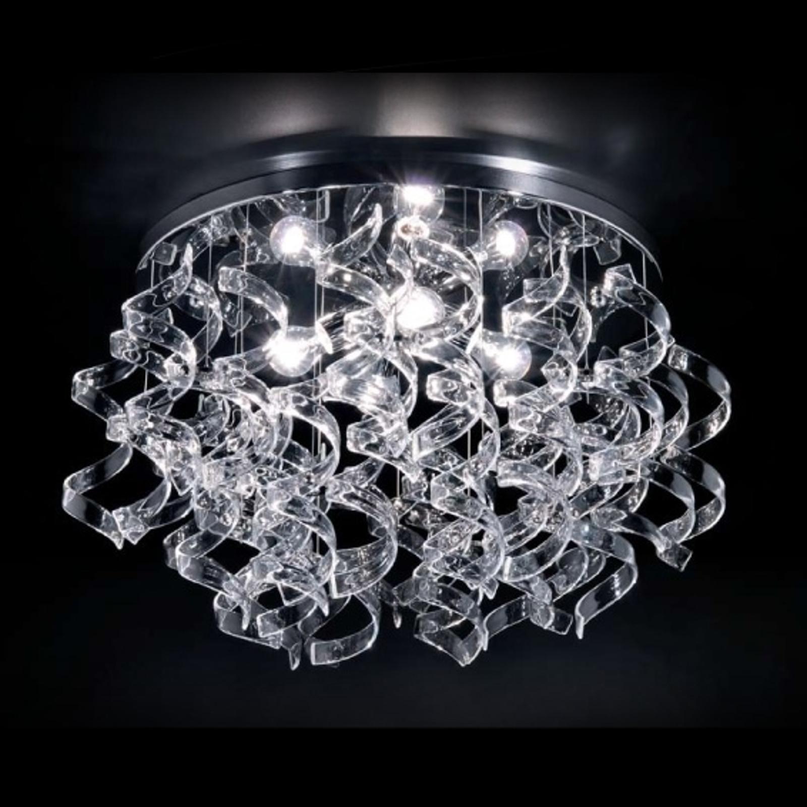 Korkealaatuinen kattovalaisin Crystal, 70 cm