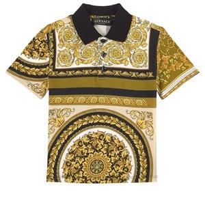 Versace Heritage Print Polo T-shirt Vit 12 år
