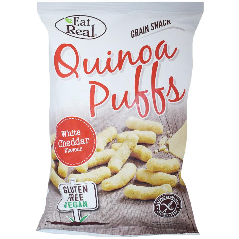 "Quinoapuffar ""White Cheddar"" 113g - 40% rabatt"
