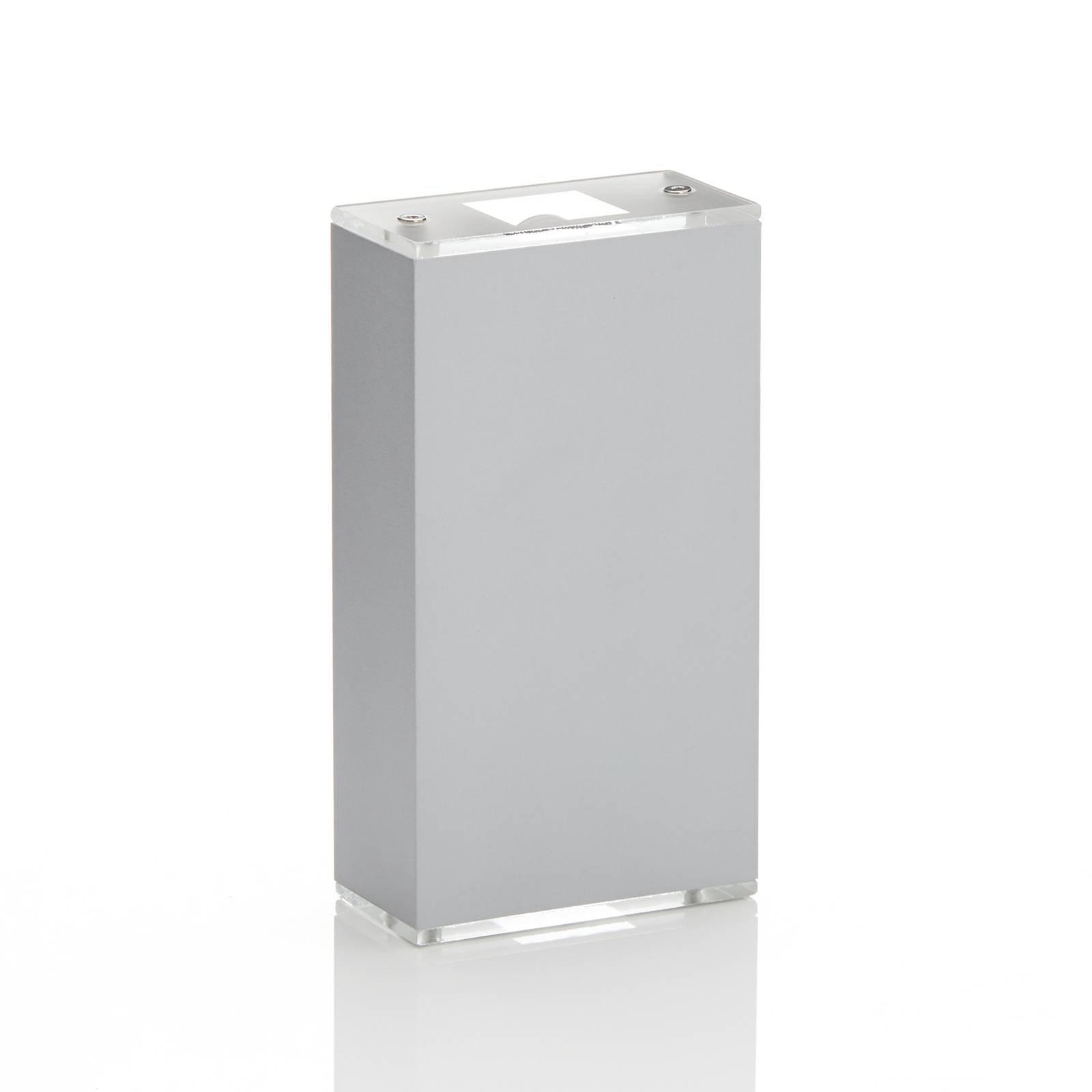 Lucande Anita LED-vegglampe sølv, høyde 36 cm