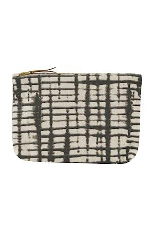 Sminkepung Batik 23x16 cm - Offwhite/svart