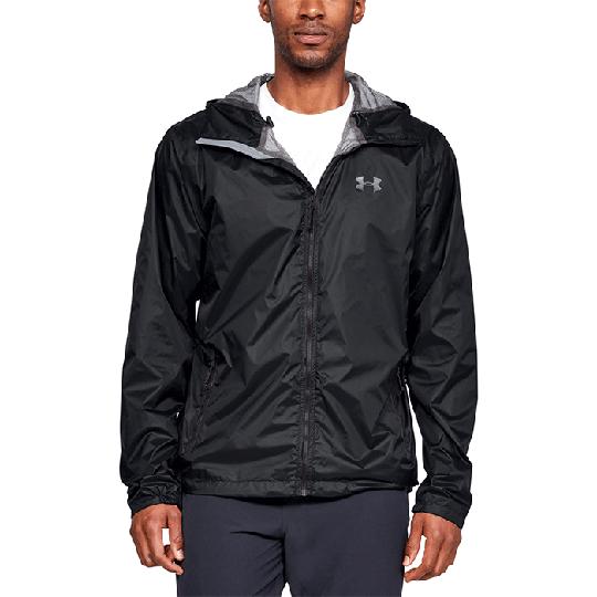 UA Forefront Rain Jacket, Black