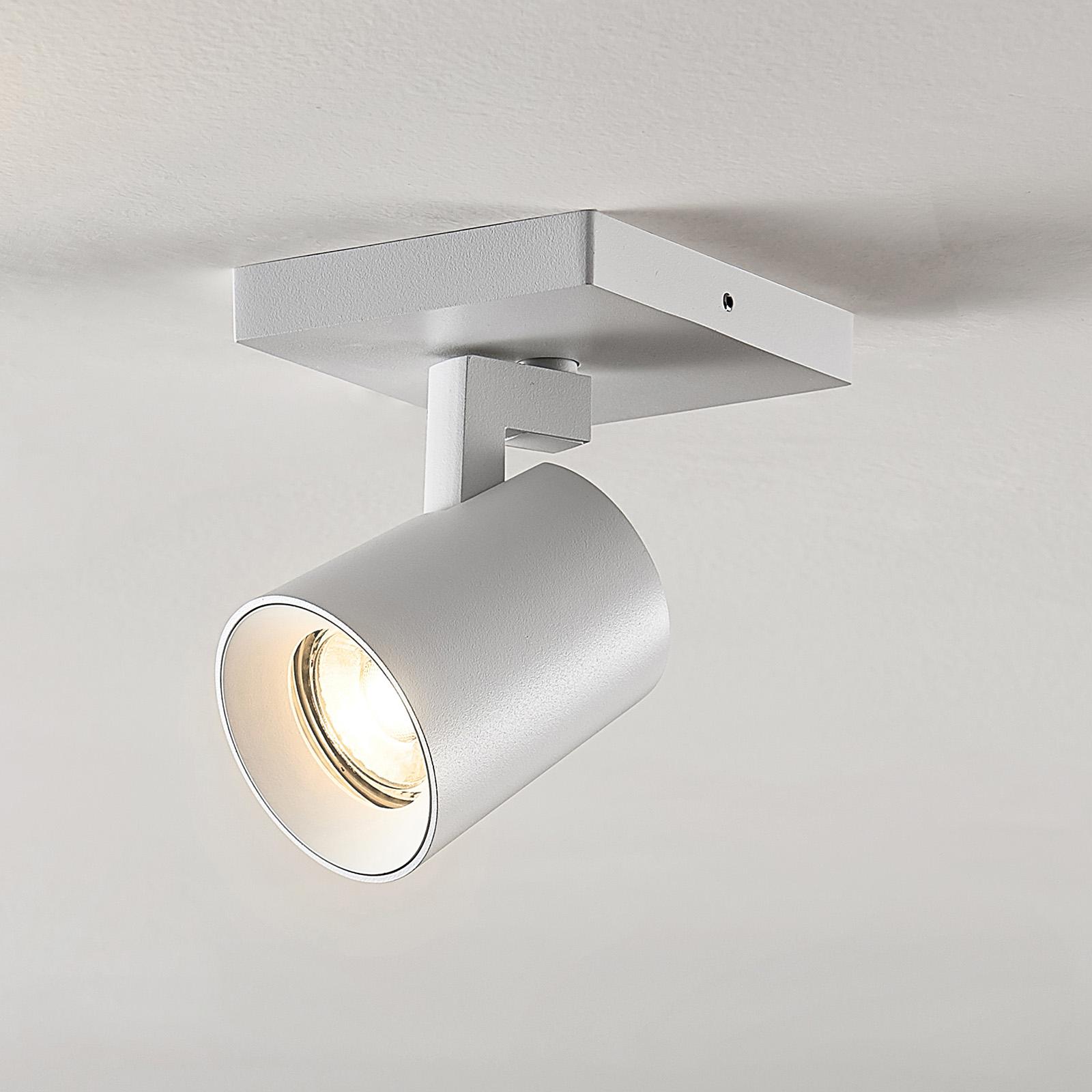 Arcchio Iavo-spotti, kulmikas, valkoinen, 1 lamppu