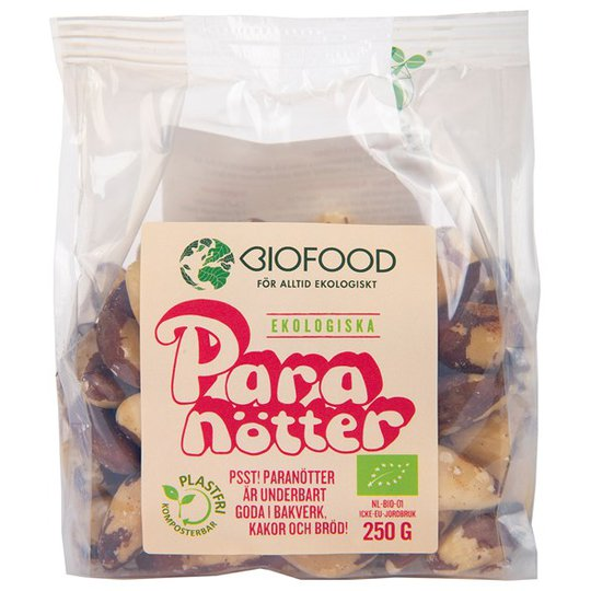 Biofood Ekologiska Paranötter, 250 g