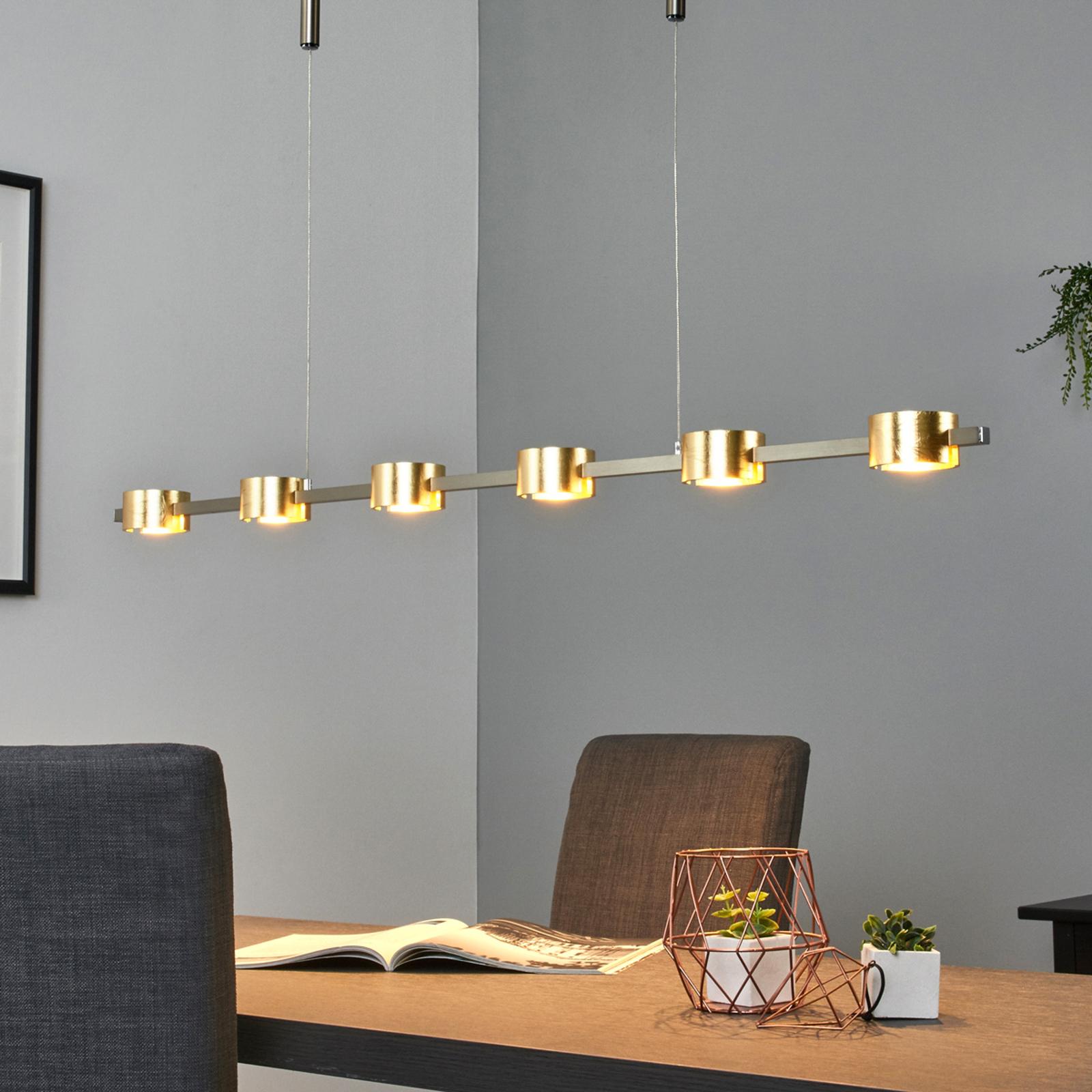 LED-riipusvalaisin Niro, himmennettävä, kullansävy