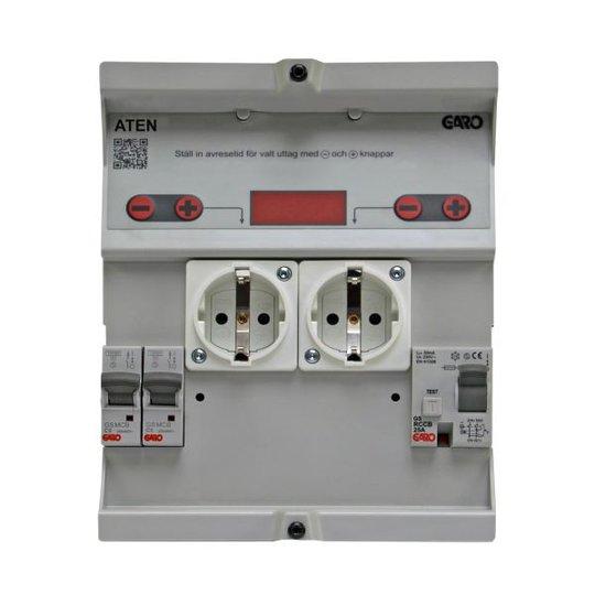 Garo ATEN 206-1 Lokerikko kiinteä kytkentäaika 3h 6A ilman mittausta, PN1