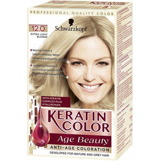 """Hårfärg """"Keratin Color 12.0 Light Blond"""" - 38% rabatt"""