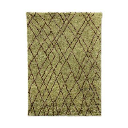 Olive Ullteppe Brown zigzag 180x280 cm