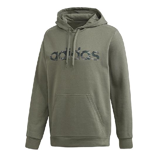Adidas Essential Camo L/N Hoodie, Green
