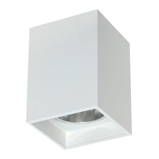 Taklampe Downlight square, hvit, bredde 11,5 cm
