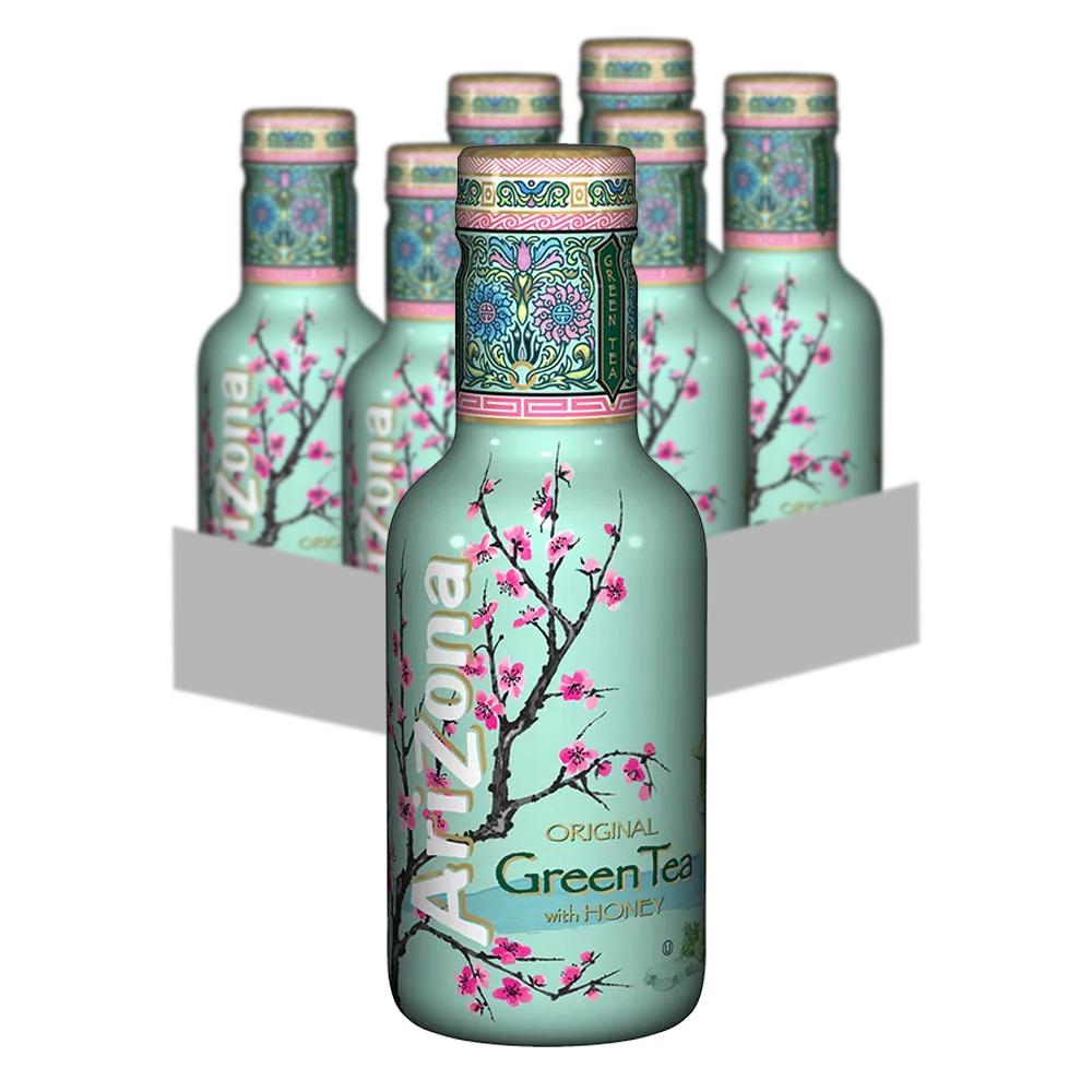 AriZona Green Tea 6-pack 500ml
