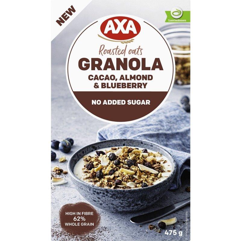 Granola Kaakao, Manteli & Mustikoita - 20% alennus