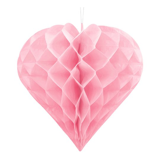 Honeycomb Hjärta - Ljusrosa