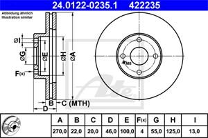 Jarrulevy, Etuakseli, MAZDA MX-5 II, N06Y-33-25X, N0YY-33-25X