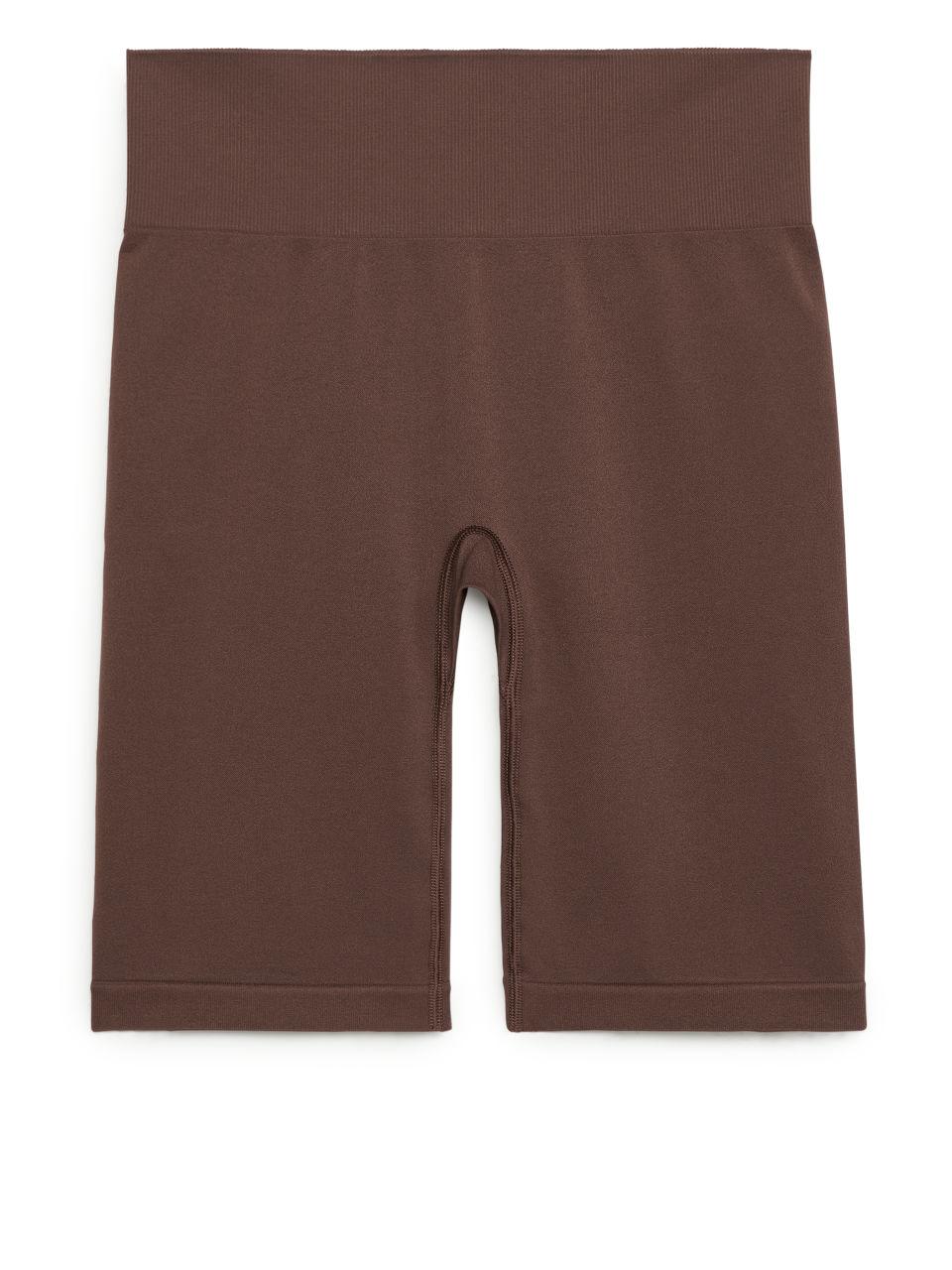 Seamless™ Yoga Shorts - Brown